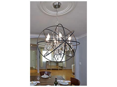 Orbit Chandelier Sale Maxim Lighting Orbit Anthracite Polished Nickel Six