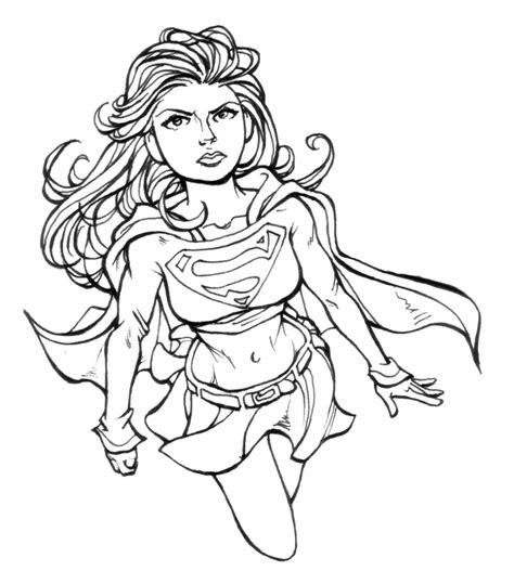 supergirl coloring pages printable supergirl coloring pages for girls super hero