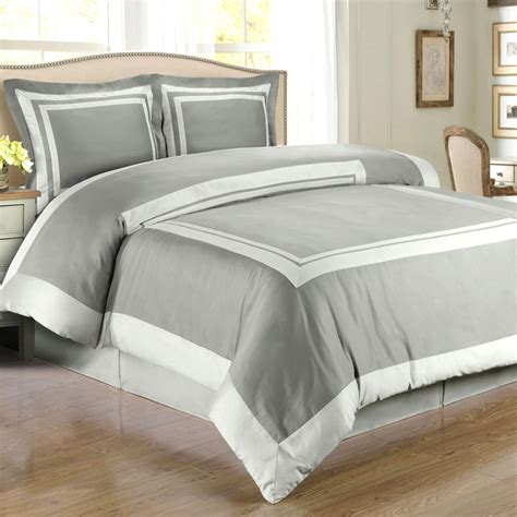 Hotel Comforter Set by Gray Light Gray Hotel Duvet Cover Set Wrinkle Resistant