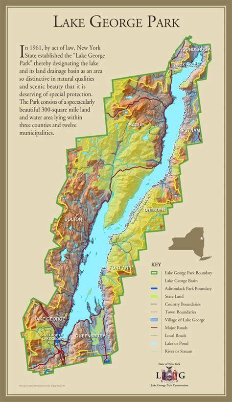 map of lake george ny new york map lake george