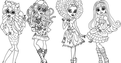 monster high new coloring pages free printable monster high coloring pages monster high