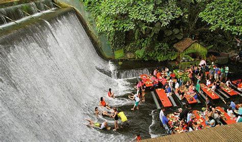 villa escudero waterfalls restaurant hotelquickly reveals asia s five most bizarre restaurants