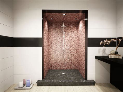 doccia a pavimento mosaico mosaico bisazza a posa per bagno interni ed esterni
