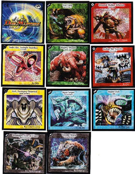 double master 2005 duel master stickers free in cookie crisps cereal