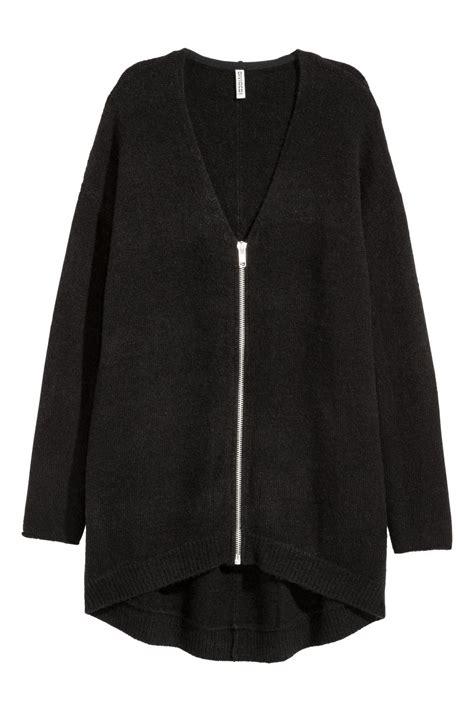Cardigan Lp 5 cardigan with zip black sale h m us