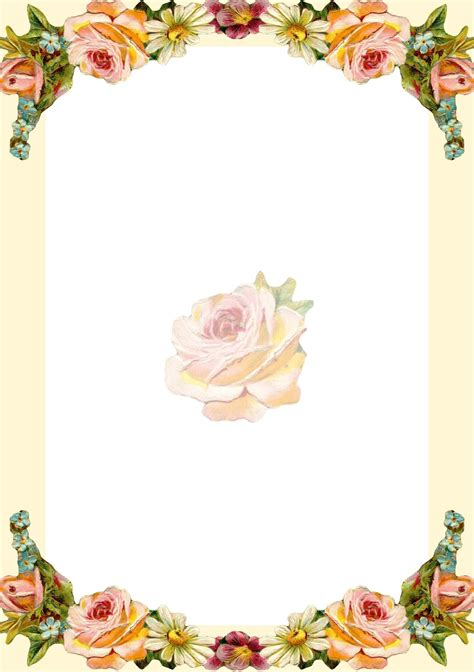 printable borders with flowers free printable vintage flower stationery ausdruckbares