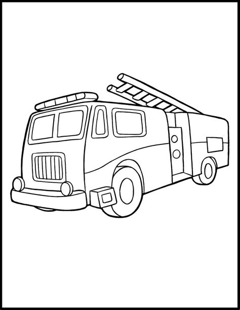 free coloring page fire truck free printable fire truck coloring pages for kids