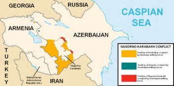 map of armenia and azerbaijan situation report conflict flares between armenia and