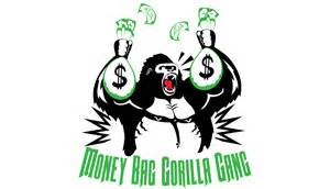money bag gorilla gang spungdesign