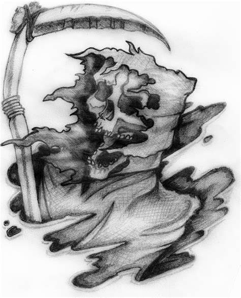 top grim reaper tattoos designs best grey ink grim reaper design for