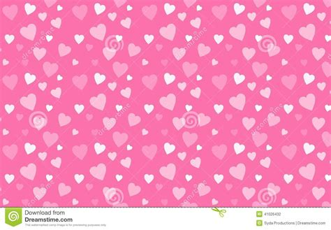 whitish pink pink wallpaper with white hearts stock illustration illustration 41026432