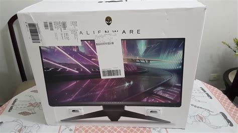 unboxing monitor alienware aw2518hf 240hz freesync pt br