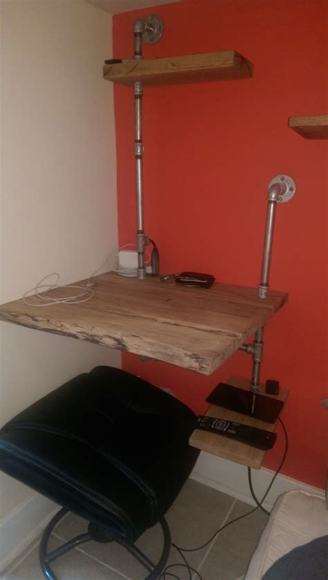 another creative diy project this hanging wall desk with