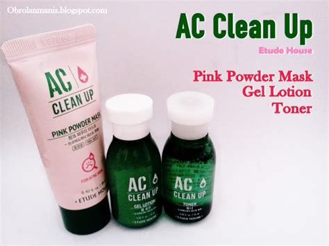 Ac Clean Up Toner 5ml Etude Hous review etude house ac clean up gel lotion toner pink powder mask a