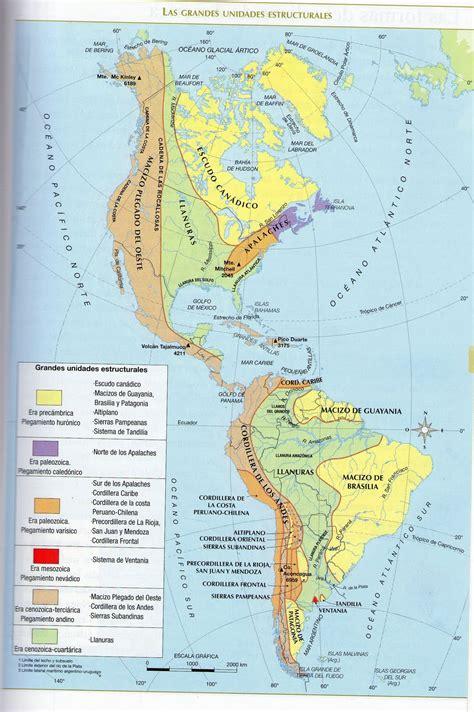 mapa de monta 241 as de am 233 rica mapa de am 233 rica