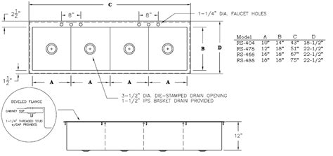 layout of quantity kitchen griffin commercial style stainless steel drop in kitchen sinks