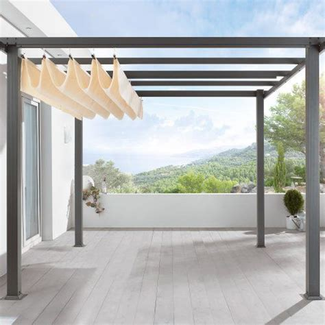 terrassen pergola überdachung terrassen pavillon pergola aluminiumgestell polyester dach