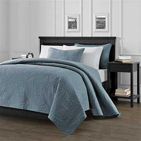Spa Bedding Sets Chezmoi Collection 3 Oversized Bedspread Coverlet Set King Spa Blue 118 By 106