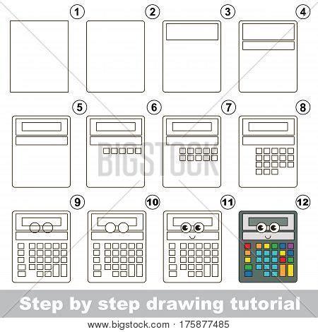 calculator game level 44 drawing tutorial preschool vector photo bigstock
