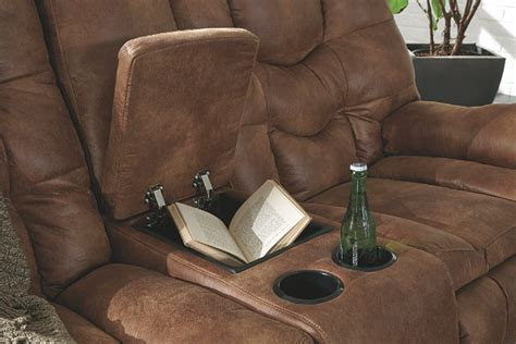 Darshmore Glider Reclining Loveseat With Console Ashley