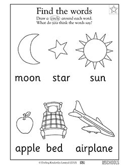 My Early Learning Carrying Family Feelings Wheater free printable preschool worksheets word lists and