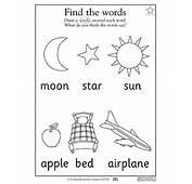 Free Printable Kindergarten Reading Worksheets Word Lists