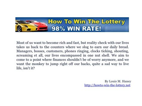 Lottery Winner Wants To Attend Stanford Mba by So You Want To How Win The Lottery