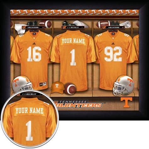 items similar to tennessee personalized college football personalized college football locker room sign tennessee