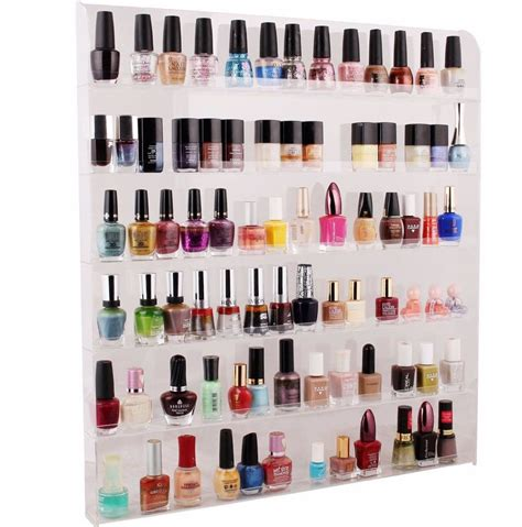 96 bottle nail polish wall rack display amazon beauty large acrylic clear nail polish organizer display wall