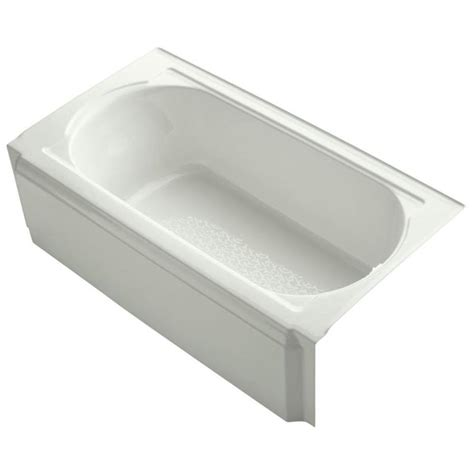 kohler memoirs bathtub shop kohler memoirs 60 in dune cast iron alcove bathtub