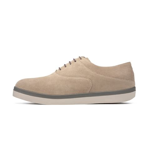 fitflop lewis mens smart casual shoes in pebble suede