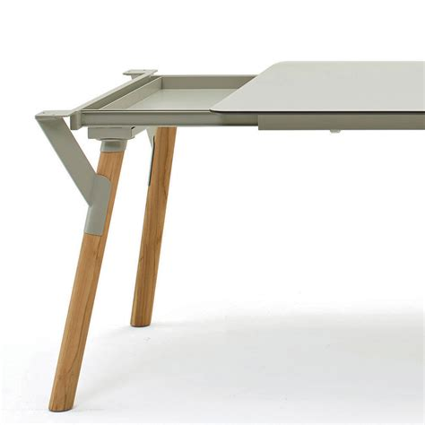 extendable table legs varaschin link outdoor extendable dining table with teak