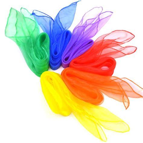 jmkcoz 12pcs square juggling silk scarves magic