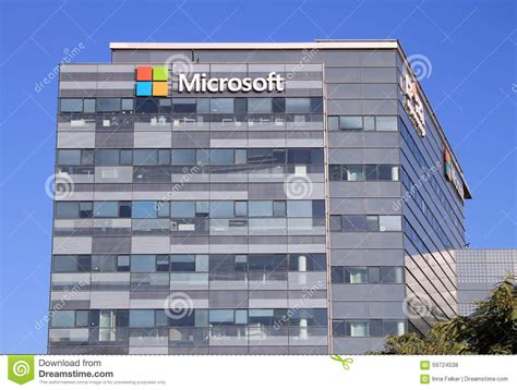 Microsoft Corporate Office by Microsoft Sign On A Building In Herzliya Israel