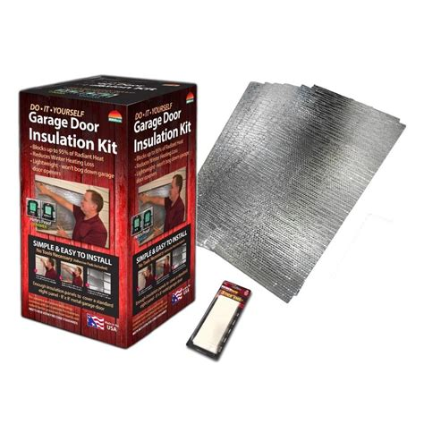 Reach Barrier Air Reflective Garage Door Insulation Kit Home Depot Garage Door Insulation
