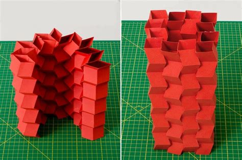 How To Make An Origami Bridge - origami inspired quot zippered quot create strong