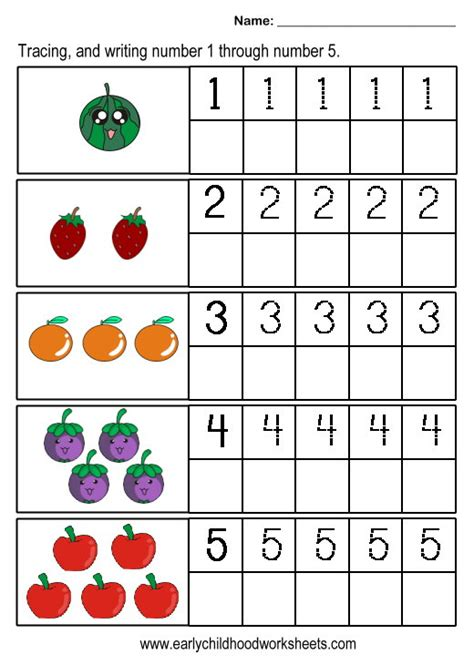 printable worksheets numbers 1 5 best photos of printable numbers 1 to 5 printable