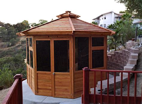 octagon gazebo octagonal gazebo sunroom wood gazebo kit for sale