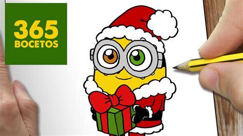 imagenes kawaii minions como dibujar un minion para navidad paso a paso dibujos