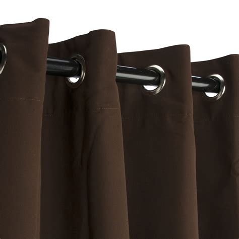 brown grommet curtain panels bay brown sunbrella grommeted outdoor curtains dfohome
