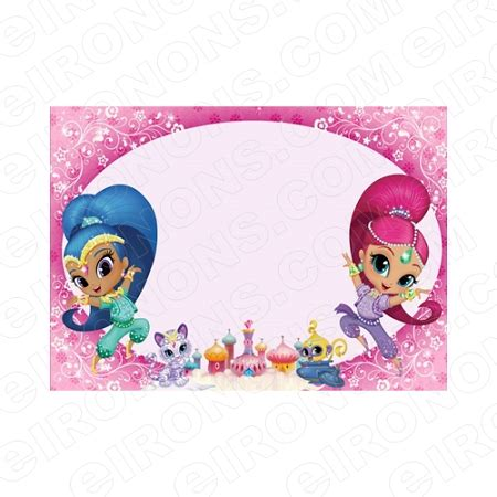 shimmer and shine blank editable invitation instant