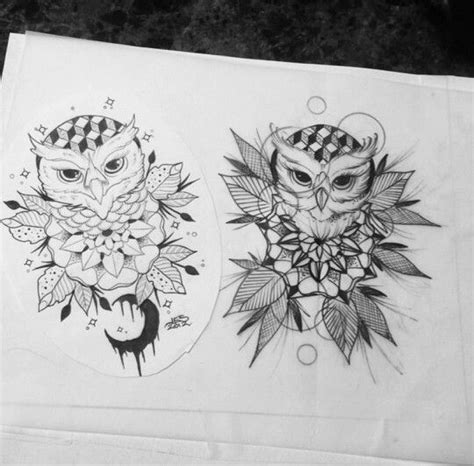 owl tattoo geo owl tattoo design geo geometric