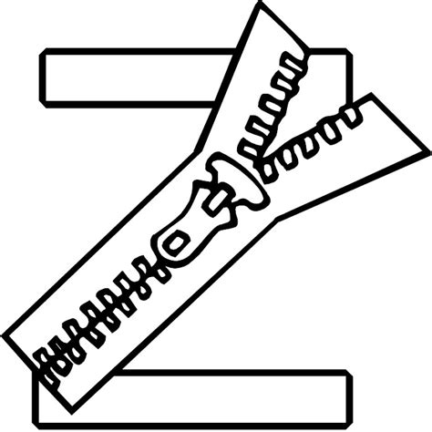 letter z coloring pages az coloring pages