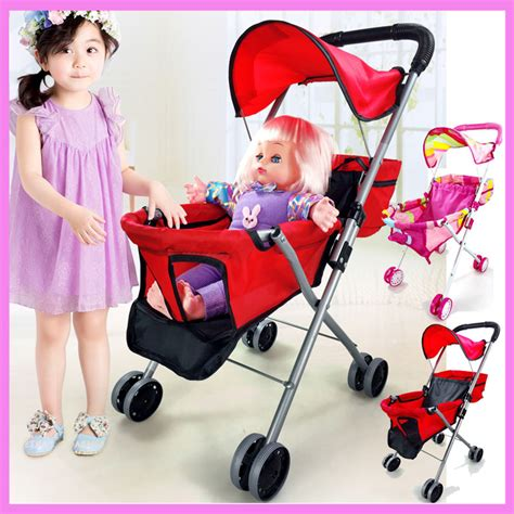 Dolls Iron Pink Stroller Pushchair Pram buy wholesale doll umbrella stroller from china