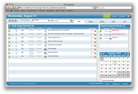Filemaker Calendar Template by Sui Calendar A Filemaker Pro Calendar Template Available