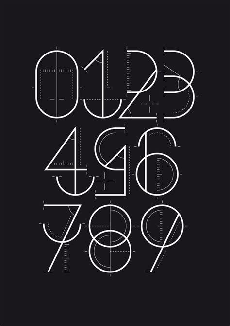 typography numbers design numerograf 237 a los n 250 meros inventados por wete yorokobu