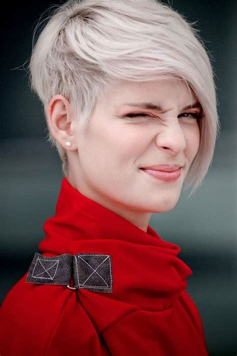 hair cuts for white hair cute short hairstyles for girls with white hair cool
