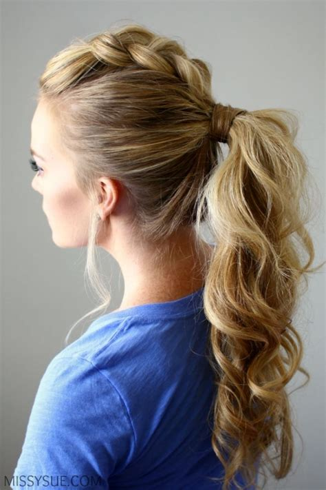 Dutch Braid Mohawk Ponytail   26 Adorable Ways ? to Wear a Dutch