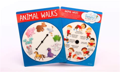 printable animal walk cards animal walks wheel therapy in a bin