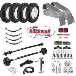 tandem axle trailer parts kit 7 000 lb capacity brakes on 1 axle johnson trailer parts
